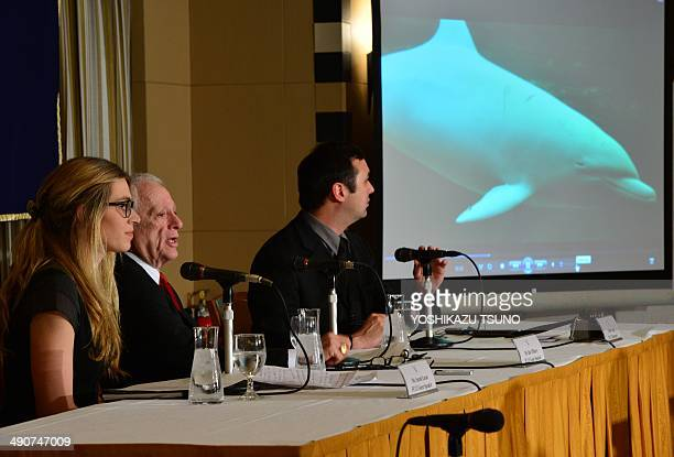 US dolphin activist Ric O'Barry who appeared in the Academyaward winning documentary 'The Cove' and Sarah Lucas founder of Australia for Dolphins...