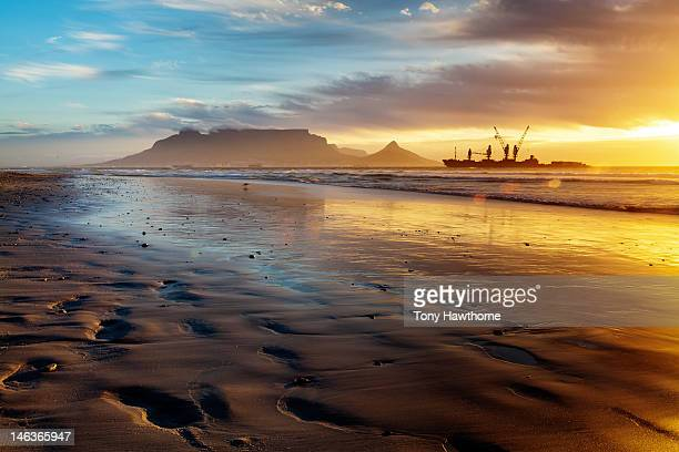 Dolphin beach sunset, Cape town