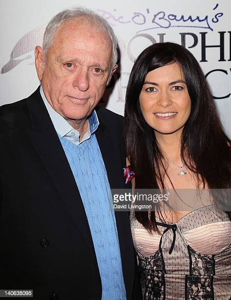 Dolphin rights activist Richard Ric O'Barry and race car driver Leilani Munter attend a cocktail reception honoring O'Barry star of the Oscar winning...