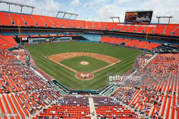Dolphin Stadium is shown during the Chicago Cubs game against the Florida Marlins at Dolphin Stadium on May 24, 2006 in Miami, Florida. The Marlins...
