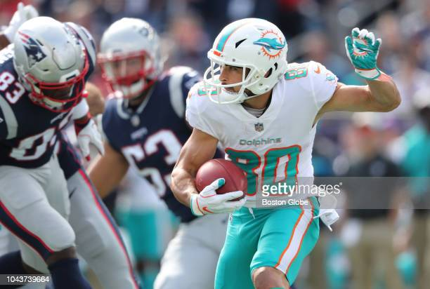 Dolphins Danny Amendola rushes in the second quarter New England Patriots hosted the Miami Dolphins at Gillette Stadium in Foxborough MA on Sept 30...