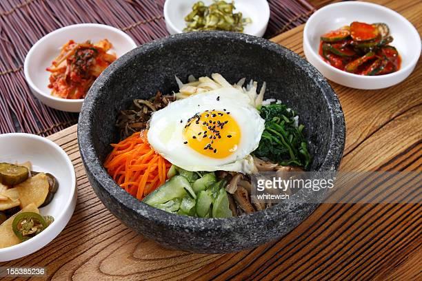dolsot bibimbap - korean food stock pictures, royalty-free photos & images