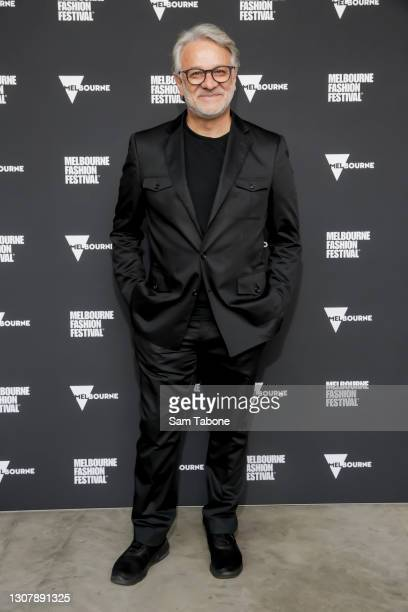 Dom Bagnato attends Runway 6 at Melbourne Fashion Festival on March 19, 2021 in Melbourne, Australia.