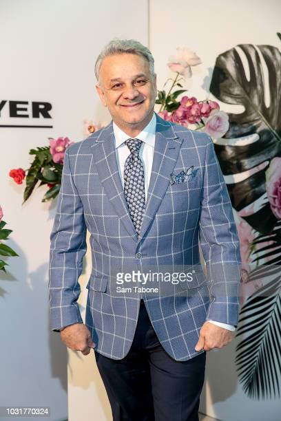 Dom Bagnato attends the 2018 Myer Spring Fashion Lunch at Flemington Racecourse on September 12, 2018 in Melbourne, Australia.