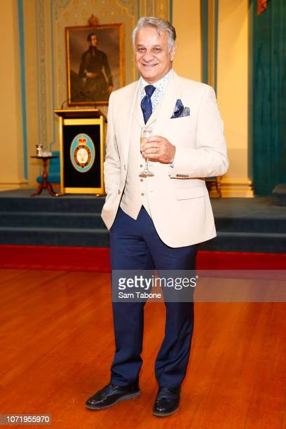 Dom Bagnato attends the Melbourne Fashion Festival Program and Campaign Launch at Government House on December 12, 2018 in Melbourne, Australia.