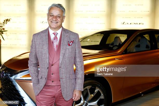Dom Bagnato poses at the Lexus Marquee on Oaks Day at Flemington Racecourse on November 08, 2018 in Melbourne, Australia.