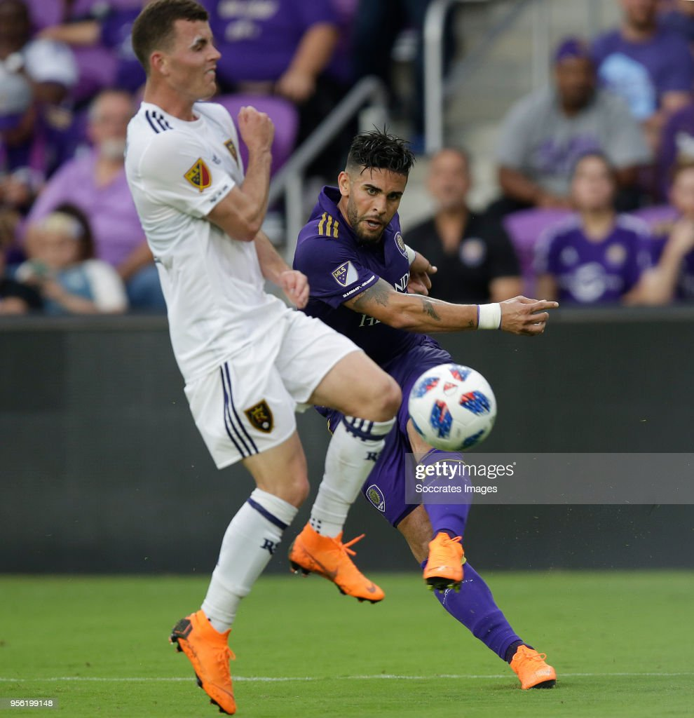 Dom Dwyer of Orlando City during the match between Orlando City v Real Salt Lake on May 6, 2018
