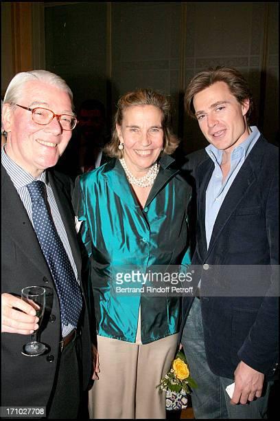 Dom Enrico Gandolfi his wife Princess Claude De France and Leur Neveu Fouk D' Orleans Exhibition launch 'Paris Insolite' of the paintings of the...
