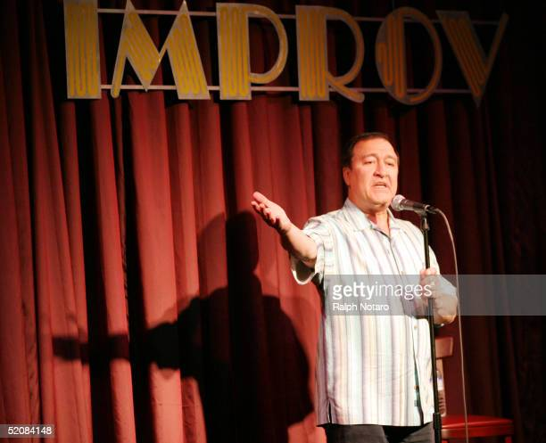 Dom Irera performs his stand-up act at the Improv Comedy Club at the Seminole Paradise Hard Rock January 29, 2005 in Hollywood, Florida.