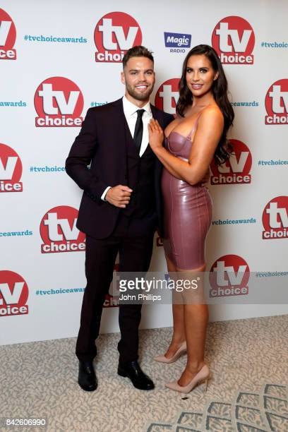 Dom Lever and Jess Shears arrive for the TV Choice Awards at The Dorchester on September 4 2017 in London England