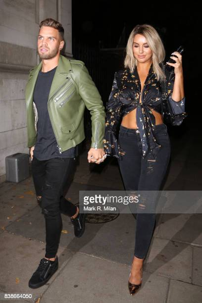 Dom Lever and Jess Shears attending at the launch of the Kem Cetinay BoohooMAN collection at Opal on August 24 2017 in London England