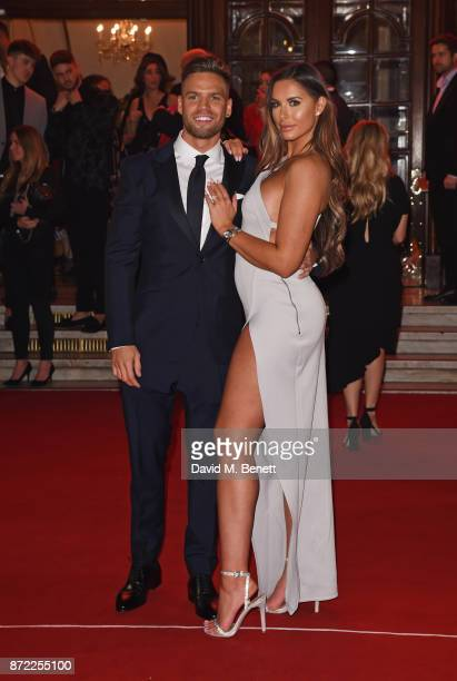 Dom Lever and Jessica Shears attend the ITV Gala held at the London Palladium on November 9 2017 in London England