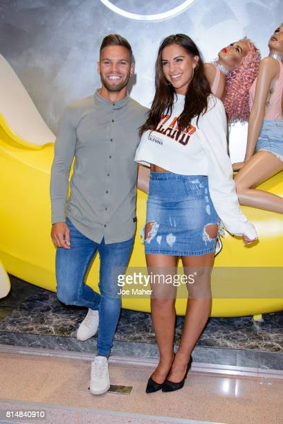 Dom Lever and Jessica Shears during the Missguided Photocall at Bluewater Shopping Centre on July 15 2017 in Greenhithe England