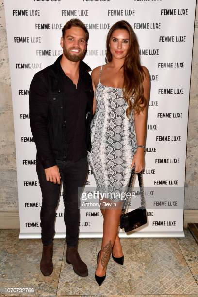 Dom Lever and Jessica Shears during the VIP launch of 'Femme Luxe' 99p dress collection at Menagerie on November 21 2018 in Manchester England