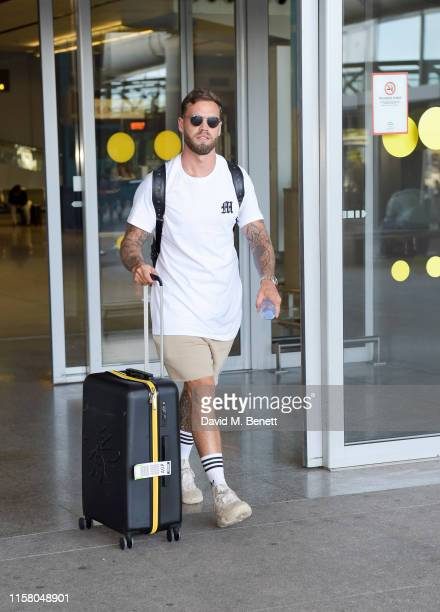 Dom Lever arrives at Malaga airport ahead of boohoo boohooMAN event on July 27 2019 in Marbella Spain
