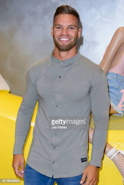 Dom Lever during the Missguided Photocall at Bluewater Shopping Centre on July 15 2017 in Greenhithe England