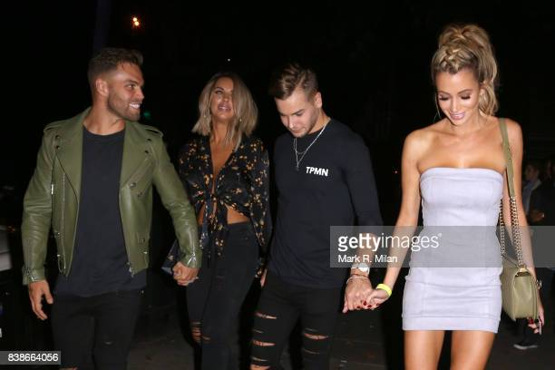Dom Lever Jess Shears Chris Hughes and Olivia Attwood attending at the launch of the Kem Cetinay BoohooMAN collection at Opal on August 24 2017 in...