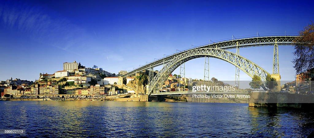 Dom Luis I Bridge, Porto : Foto de stock