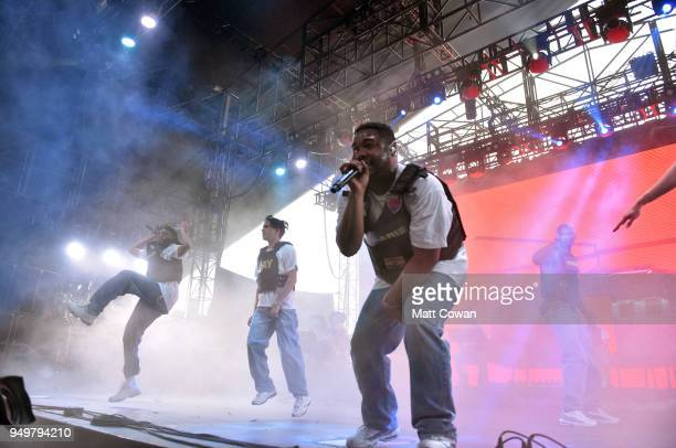 Dom McLennon of Brockhampton performs onstage during the 2018 Coachella Valley Music And Arts Festival at the Empire Polo Field on April 21 2018 in...