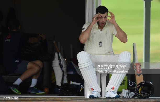 Dom Sibley of England prepares to bat at Cobham Oval on November 16 2019 in Whangarei New Zealand