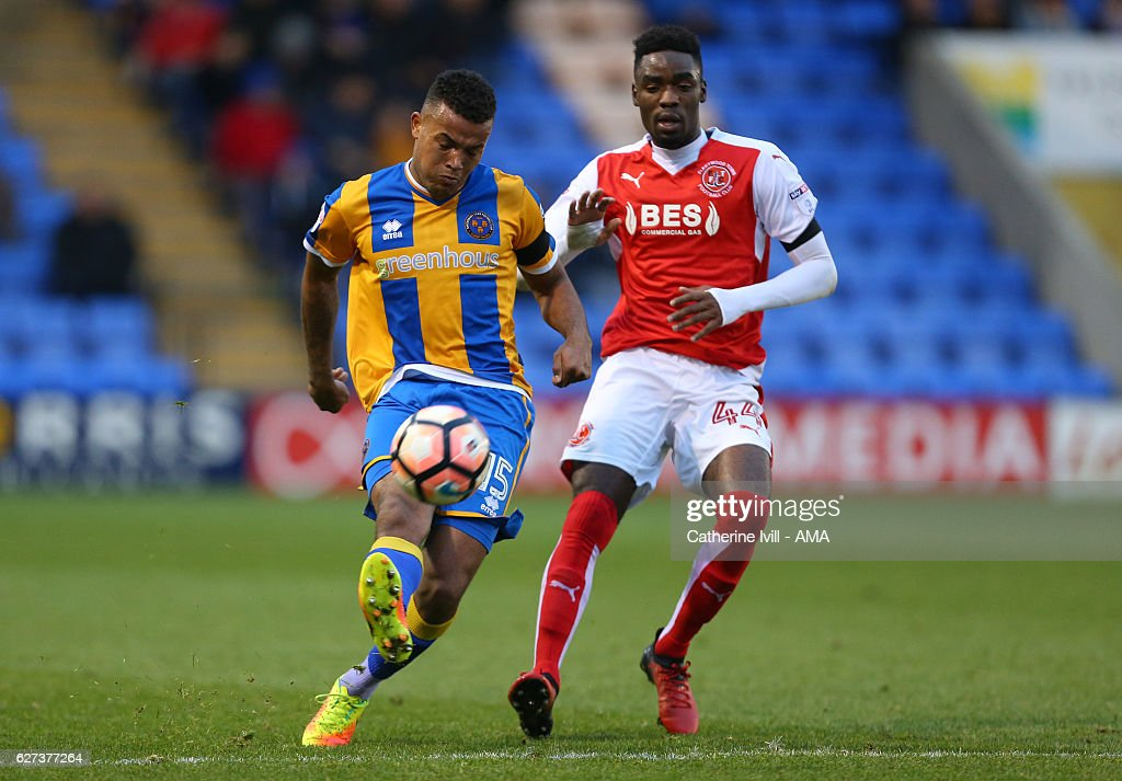 Shrewsbury Town v Fleetwood Town - The Emirates FA Cup Second Round : News Photo