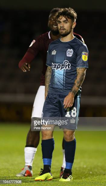 Dom Telford of Bury in action during the Sky Bet League Two match between Northampton Town and Bury at the PTS Academy Stadium on October 2 2018 in...