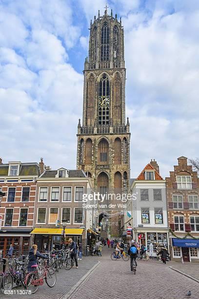 "dom tower in utrecht, the netherlands - ""sjoerd van der wal"" stock pictures, royalty-free photos & images"
