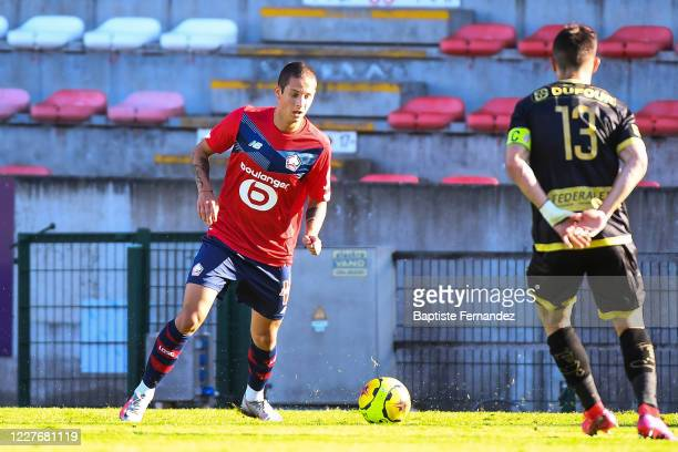 Domagoj BRADARIC of Lille during the preseason soccer friendly match between Lille and Mouscron on July 18 2020 in Mouscron Belgium
