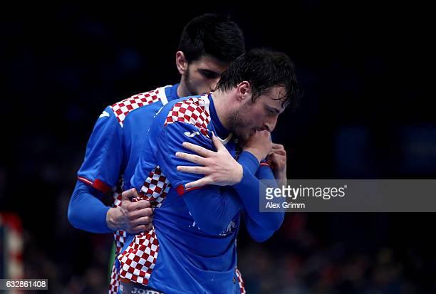 Domagoj Duvnjak of Croatia looks dejected the 25th IHF Men's World Championship 2017 Semi Final match between Croatia and Norway at Accorhotels Arena...