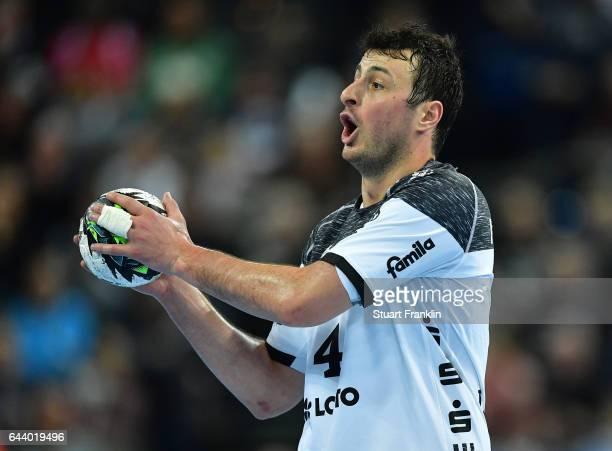 Domagoj Duvnjak of Kiel in action during the DKB Handball Bundesliga game between THW Kiel and MT Melsungen at Sparkassen Arena on February 22 2017...