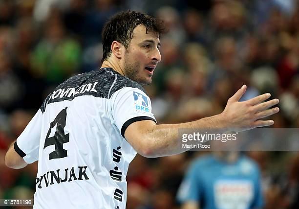Domagoj Duvnjak of Kiel reacts during the DKB HBL Bundesliga match between THW Kiel and TSV HannoverBurgdorf at Sparkassen Arena on October 19 2016...
