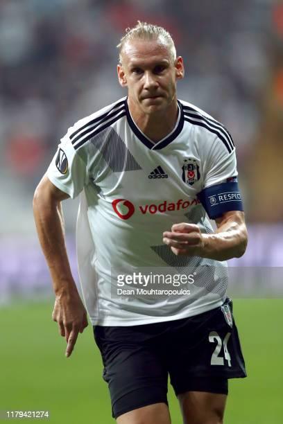 Domagoj Vida of Besiktas in action during the UEFA Europa League group K match between Besiktas and Wolverhampton Wanderers at Vodafone Park on...