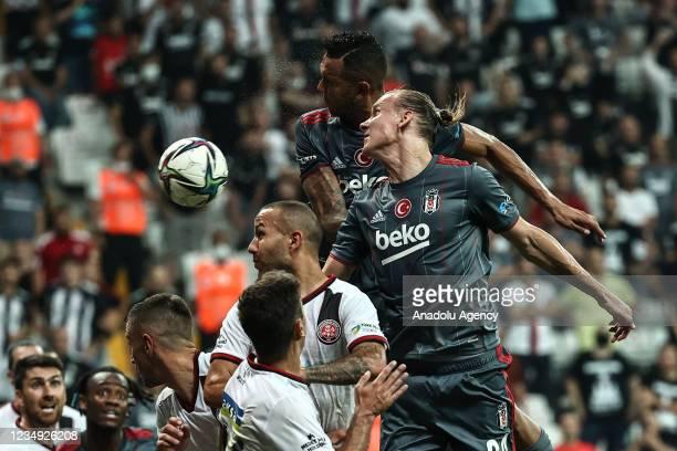 Domagoj Vida of Besiktas in action during Turkish Super Lig match between Besiktas and VavaCars Fatih Karagumruk at Vodafone Park in Istanbul, Turkey...