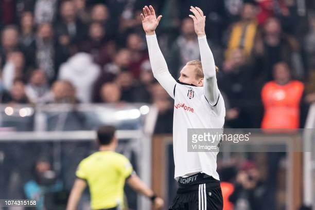 Domagoj Vida of Besiktas JK during the Turkish Spor Toto Super Lig football match between Besiktas JK and Trabzonspor AS on December 16, 2018 at the...