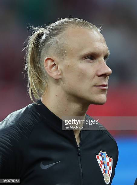Domagoj Vida of Croatia is seen during the 2018 FIFA World Cup Russia group D match between Argentina and Croatia at Nizhny Novgorod Stadium on June...