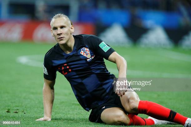Domagoj Vida of Croatia is seen during the 2018 FIFA World Cup Russia semi final match between Croatia and England at the Luzhniki Stadium in Moscow...