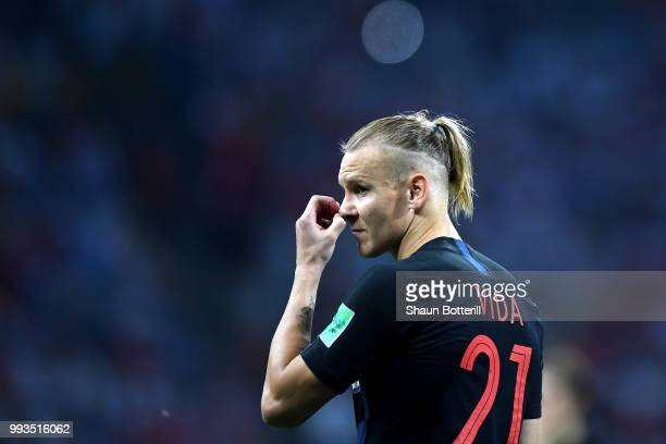 Domagoj Vida of Croatia looks on during the 2018 FIFA World Cup Russia Quarter Final match between Russia and Croatia at Fisht Stadium on July 7 2018...