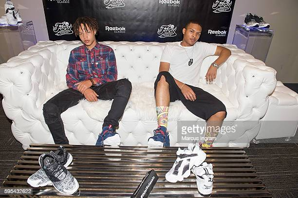 Domani Harris and Messiah Harris attend the Reebok Classic celebrity gifting lounge at Means Street Studios on August 25, 2016 in Atlanta, Georgia.