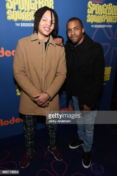Domani Harris attends Opening Night of Nickelodeon's SpongeBob SquarePants The Broadway Musical at Palace Theatre on December 4 2017 in New York City