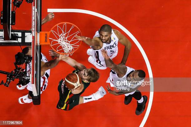 Domantas Sabonis of Lithuania in action during 2nd round Group L match between France and Lithuania of 2019 FIBA World Cup at Nanjing Youth Olympic...