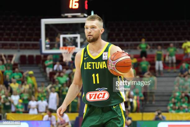 Domantas Sabonis in action is seen in Gdansk Poland on 28 June 2018 Poland faces Lithuania during the Basketball World Cup China 2019 Qualifiers game...