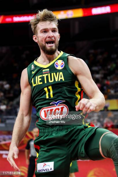 Domantas Sabonis of Lithuania in action during the 2019 FIBA World Cup first round match between Senegal and Lithuania at Dongguan Basketball Center...