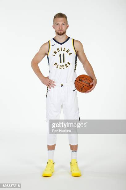Domantas Sabonis of the Indiana Pacers poses for a portrait during the Pacers Media Day at Bankers Life Fieldhouse on September 25 2017 in...