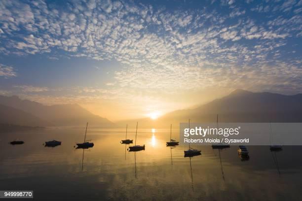 domaso, lake como, italy - como itália - fotografias e filmes do acervo