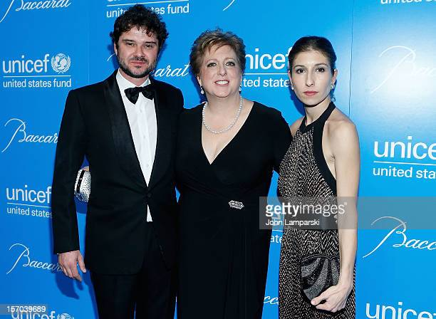 Domatilla Dotti Caryl Stern and Luca Dotti attend UNICEF Snowflake Ball 2012 at Cipriani 42nd Street on November 27 2012 in New York City