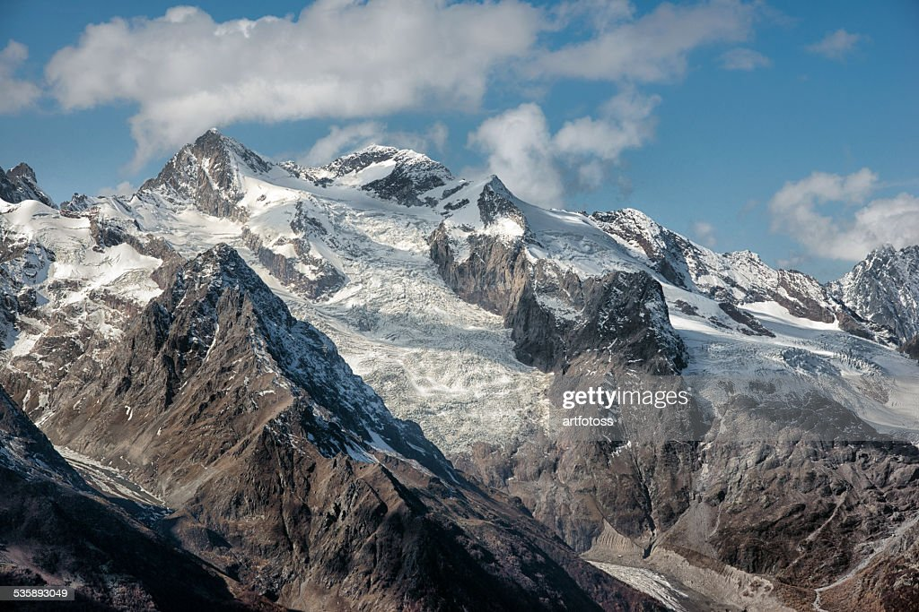 Dombai. Scenery of rockies in Caucasus region in Russia : Stock Photo