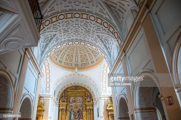 dome and altar in the apse of the church of saint teresa - carmelite order stock pictures, royalty-free photos & images