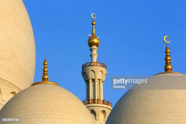 Dome and minarets Sheikh Zayed Mosque 1995 Emirate of Abu Dhabi
