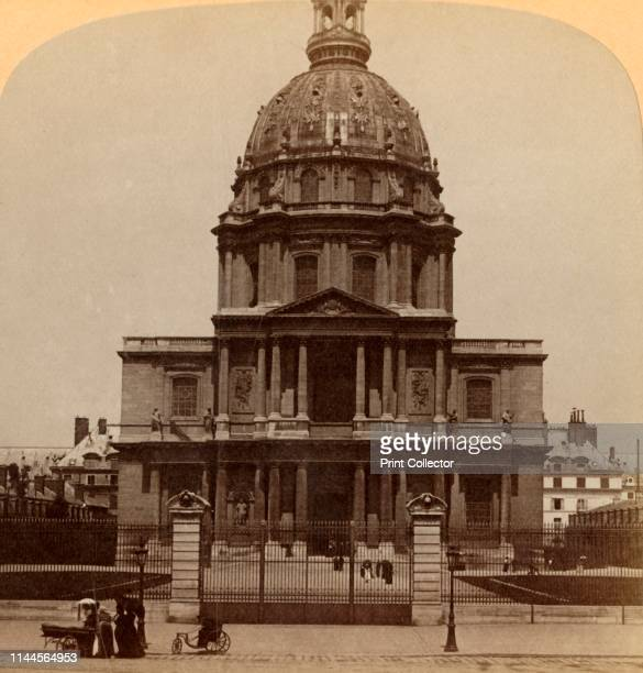Dome des Invalides where rests the mighty warrior Tomb of Napoleon I Paris France' 1900 Napoleon is buried at the Hôtel national des Invalides...