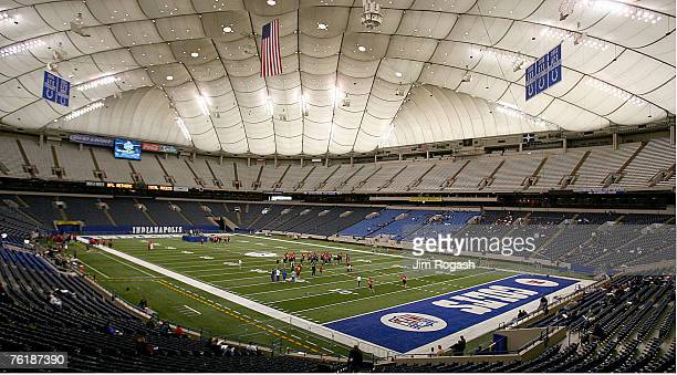 RCA Dome during the NFL Scouting Combine Feb 25 in Indianapolis Indiana